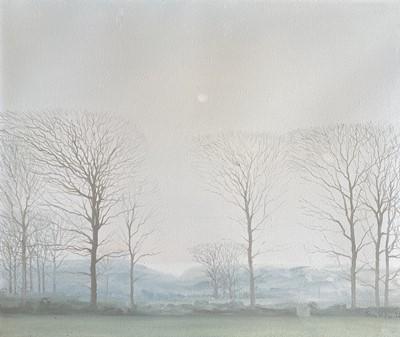 Lot 38 - John MILLER (1931-2002) Hazy Winter Landscape...