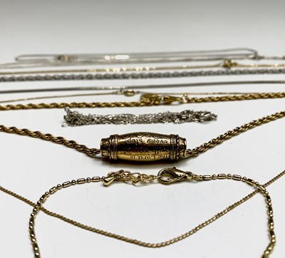 Lot 241 - Silver chains etc.