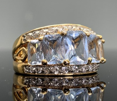 Lot 247 - Eight dress rings including two hallmarked 9ct