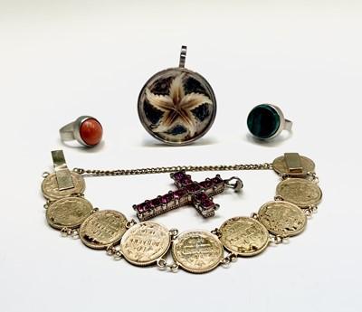 Lot 201 - A Russian silver-gilt coin bracelet circa 1915,...