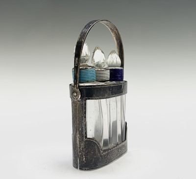 Lot 1065 - An early George VI perfume set with three cut...
