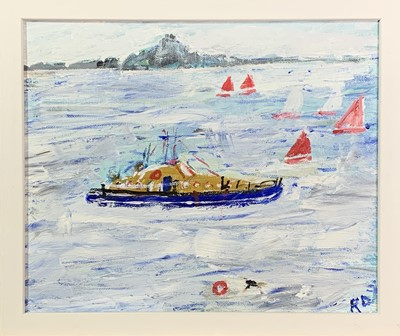 Lot 27 - Roy DAVEY (1946) The Lifeboat Oil on board...