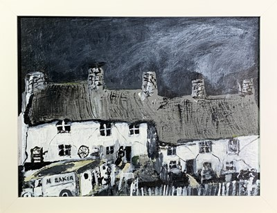 Lot 24 - Roy DAVEY (1946) Bakers Van and Cottages Oil...