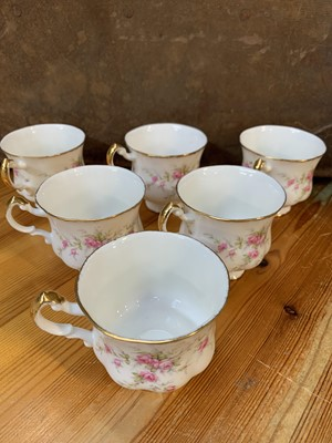 Lot 12 - Six 'Paragon' teacups, a 'hadida' wash jug and...