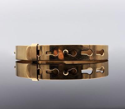 Lot 52 - A plain 9ct gold bangle 15gm width 9.3mm