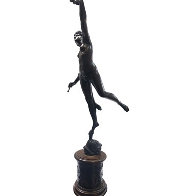 Lot 12-A bronzed classical female figure holding fig...