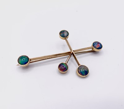 Lot 93 - A gold and opal Southern Cross brooch and a...