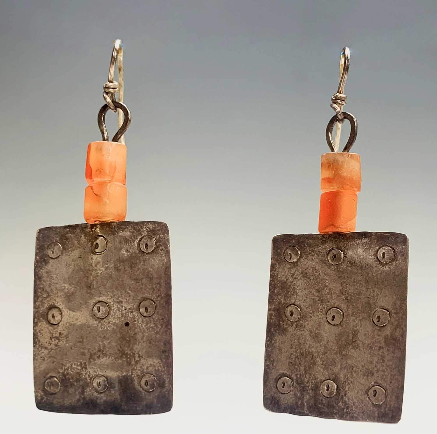 Lot 85 - A pair of Breon O'Casey silver and stone...