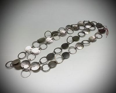 Lot 256 - A Cornish craft silver necklace by Christine...