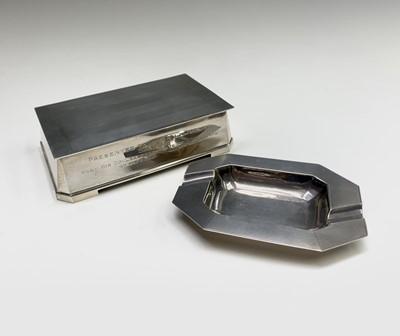 Lot 1008 - A Heavy Indian silver cigarette box 539gm and...