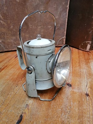 Lot 5 - A vintage Ever Ready lamp. Height 25cm.