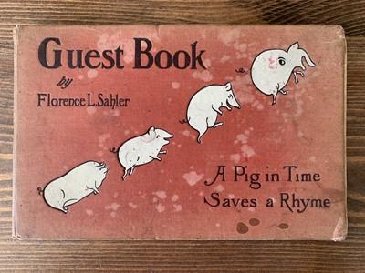 Lot 144 - Guest book of Elizabeth 'Mornie' Kerr, nee...
