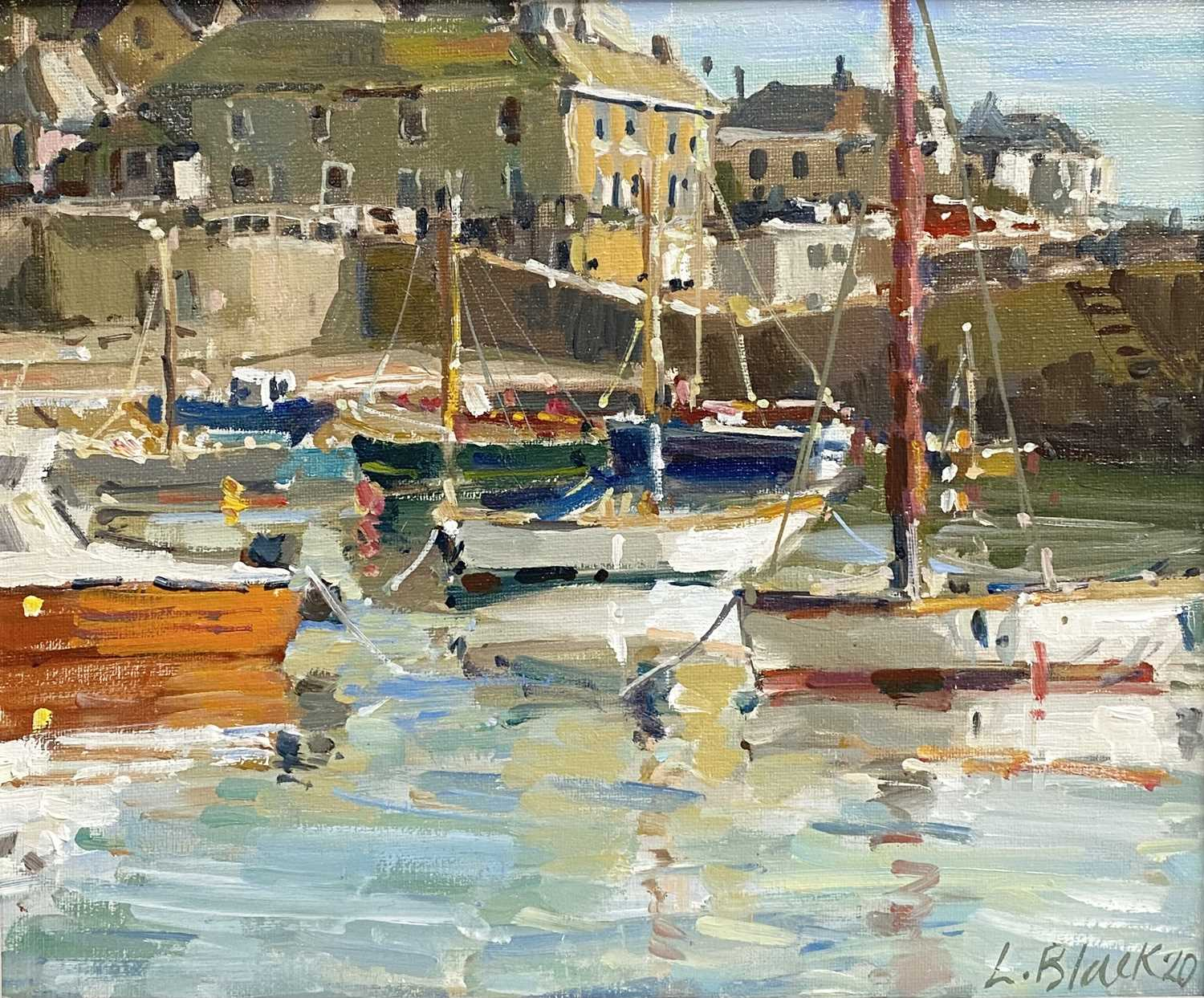 Lot 82 - Lizzie BLACK Mousehole Morning Oil on canvas...
