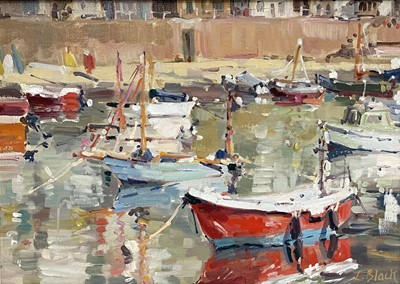 Lot 83 - Lizzie BLACK Sunny Morning, Mousehole Oil on...