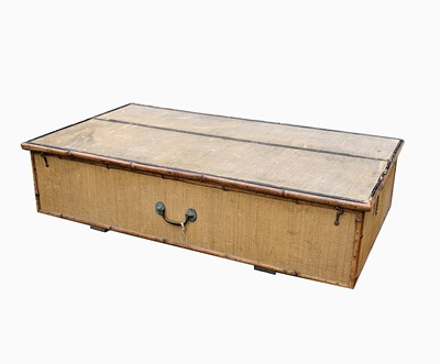 Lot 47 - An Edwardian wicker and bamboo under-bed...