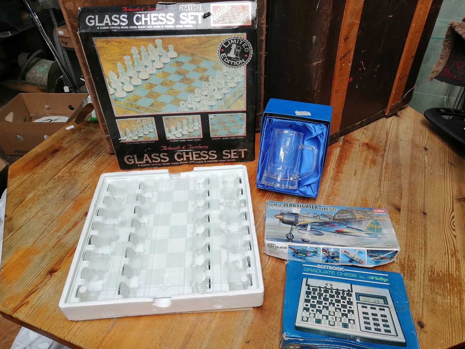 Lot 20 - Two chess games, one electronic, the other a...