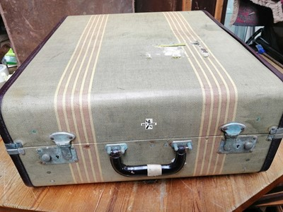 Lot 30 - A mid-century Rev Robe hard travel suitcase