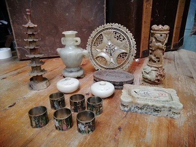 Lot 35 - Indian soapstone decorative ornanments and...
