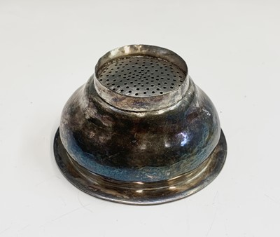Lot 1083 - A George III silver wine funnel with Crowned...