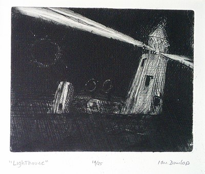 Lot 1 - Ian DUNLOP 'The LIZARD LIGHT' Engraving Signed,...