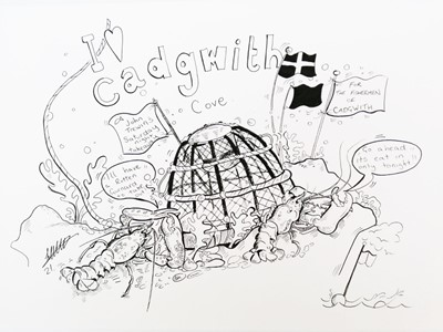 Lot 63 - Steve CATTELL 'I love Cadgwith Cove' Pen and...