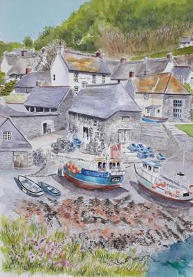 Lot 5 - Susannah GARLAND Cadgwith Cove Watercolour...