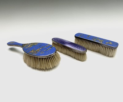 Lot 1070 - A pair of unusual Chinoiserie enamelled silver...