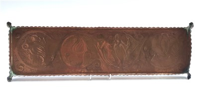 Lot 10-An Arts & Crafts rectangular copper tray...