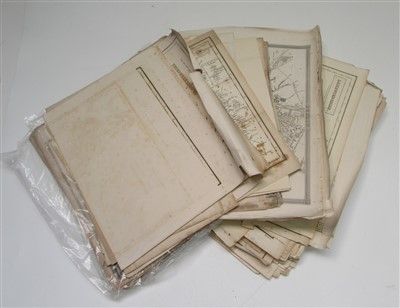 Lot 8-TOWN MAPS, COUNTY MAPS ETC approx 200 engr maps.