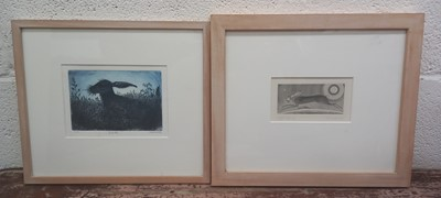 Lot 20 - Adrienne PEVERALL, 'Hare', etching, 6/30,...