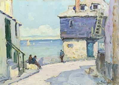 Lot 133 - Gustave DE BREANSKI (c.1856-1898) St Ives Arts...