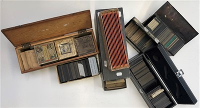 Lot 20-A quantity of magic lantern slides, stories, many ...