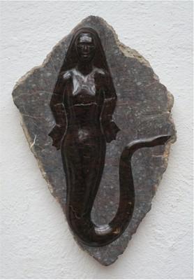 Lot 16 - Jason ELLIS'Selkie'Carved Serpentine stone...