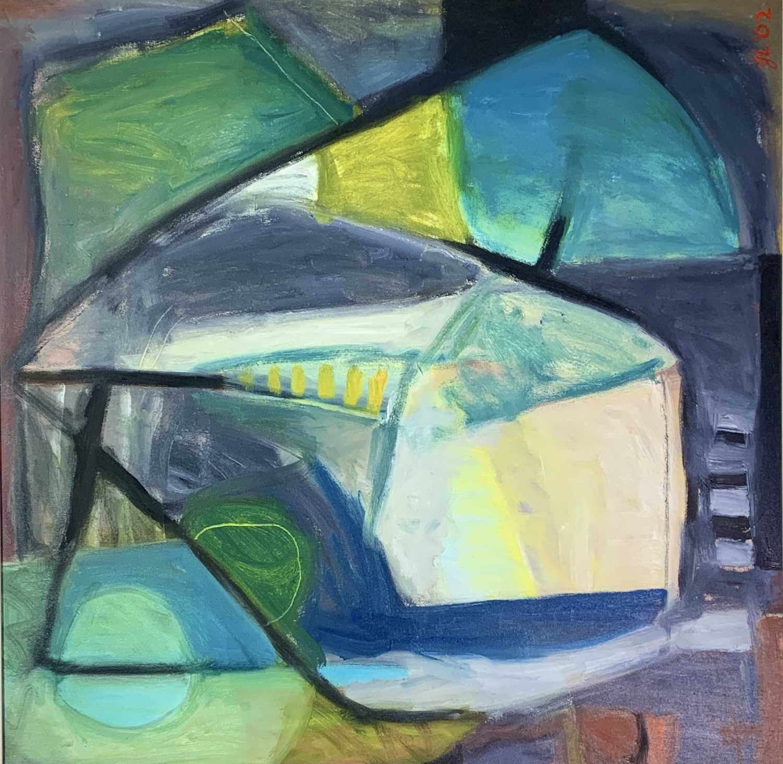 Lot 16 - Janet LYNCH (1938) Porthleven Winter Oil on...