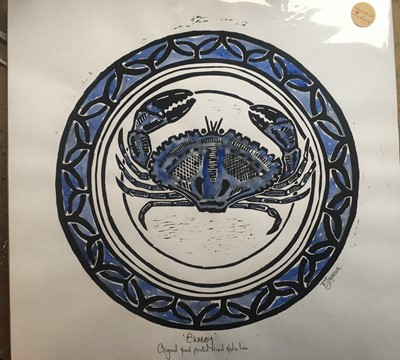 Lot 62 - Susie Jane THOMSONCrabby Lino print and...