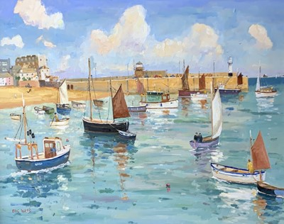 Lot 160 - Eric WARD (1945) St Ives Harbour Oil on canvas...