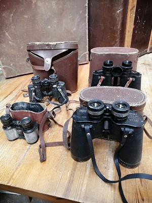Lot 6 - Four pairs of cased binoculars, together with...