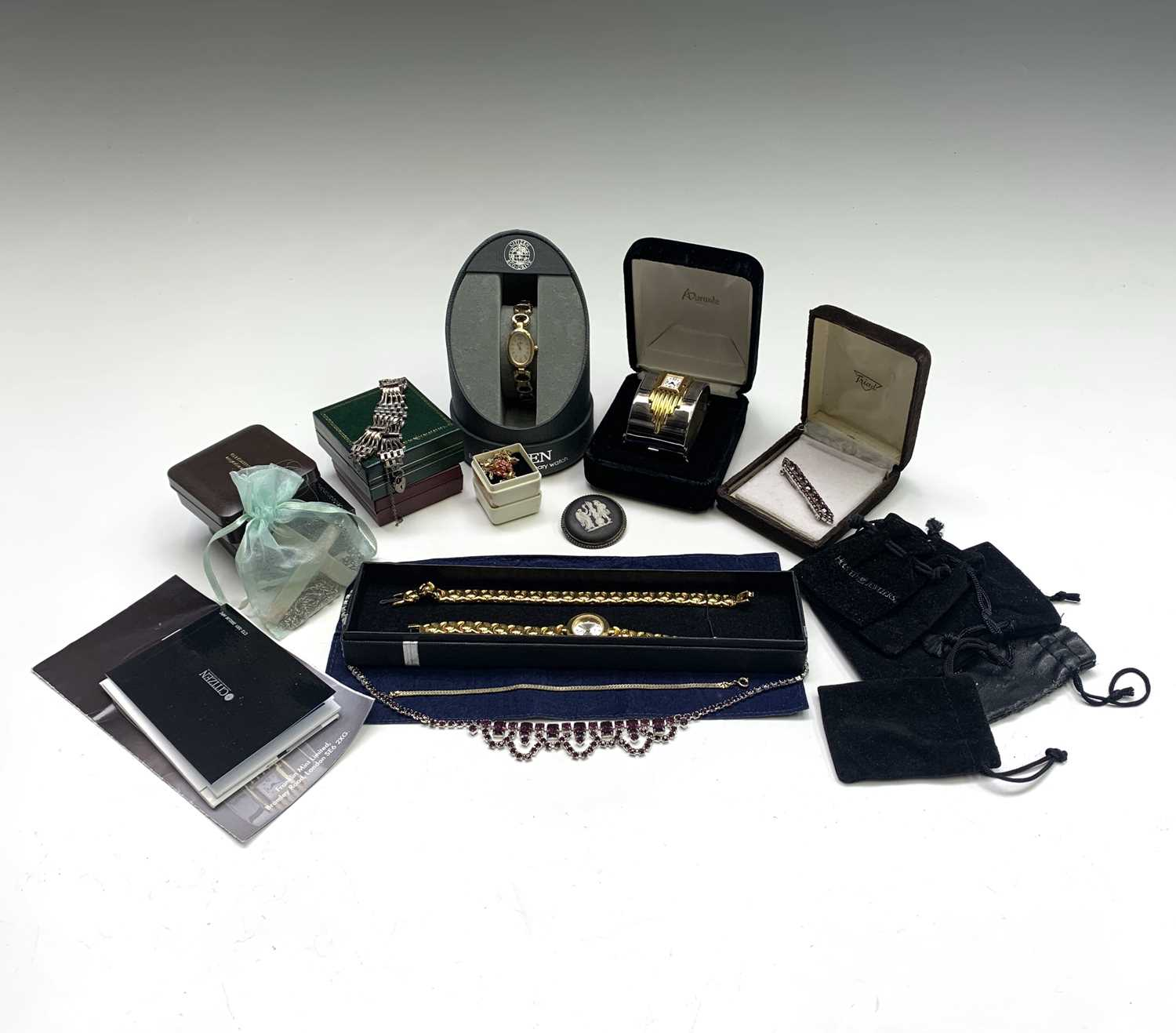 Lot 86 - Costume watches and jewellery including a...