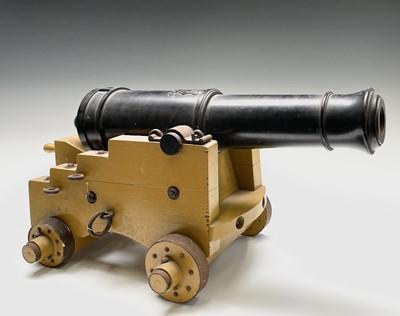 Lot 7 - A cast iron signal cannon, 20th century,...