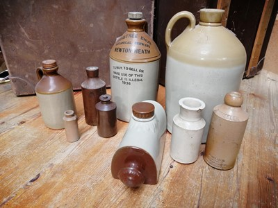 Lot 1 - 8 stoneware jars - Crabtree Bros, Newton Heath;...
