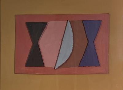 Lot 49 - Breon O'CASEY (1928-2011) Grey Moon Acrylic...