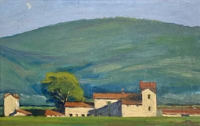 Lot 11 - Barrie BRISCOE (1936) Continental Landscape...