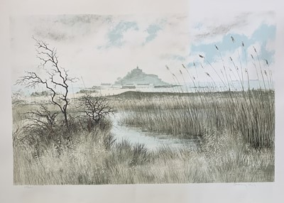Lot 182 - Jeremy KING (1933) Marazion Marshes with St...