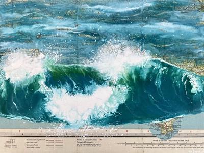 Lot 23 - Kit JOHNSDumping Shoreline WaveAcrylic & Mixed...