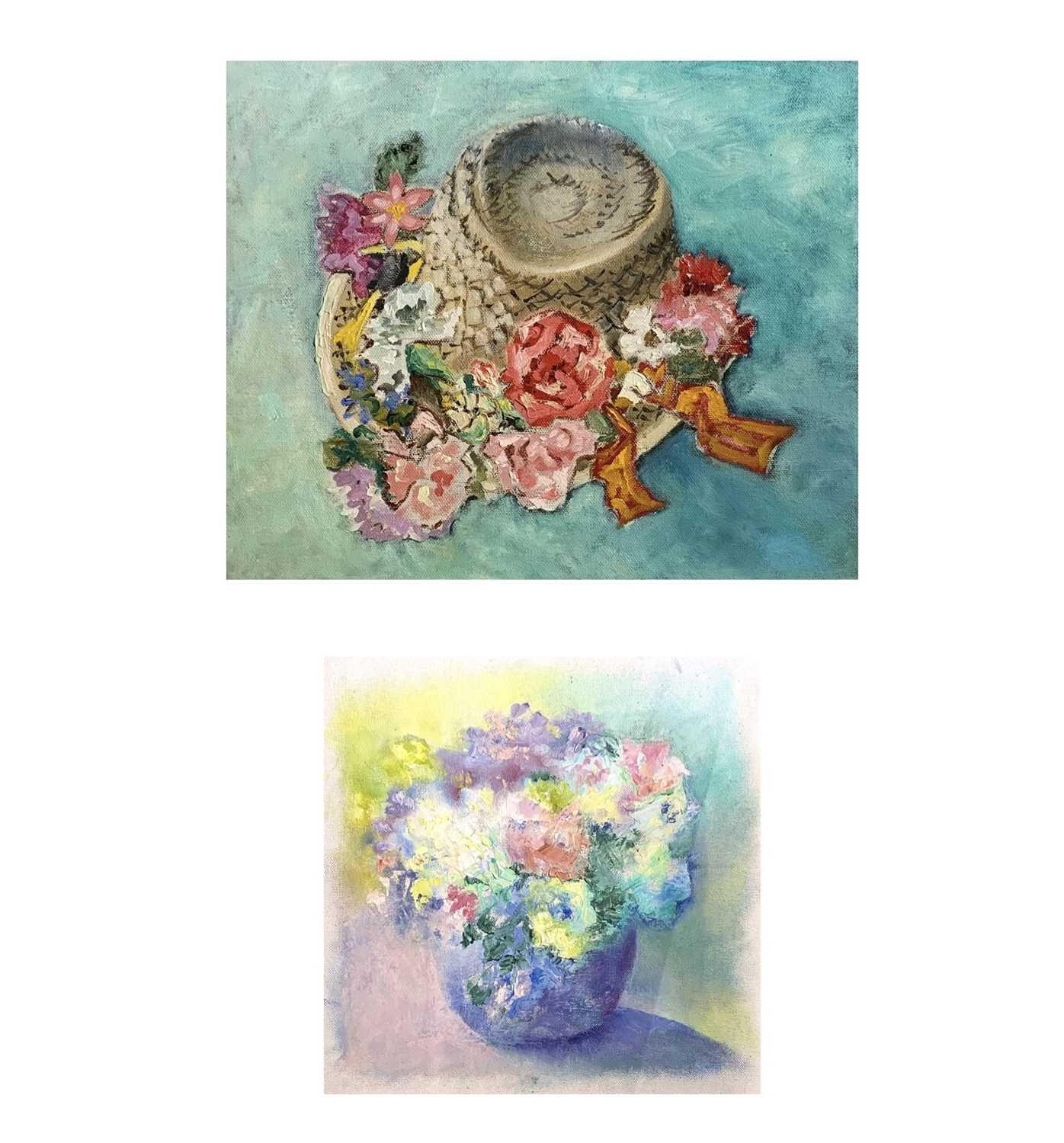 Lot 331 - Heather BRAY The Folksingers Hat Oil on canvas...