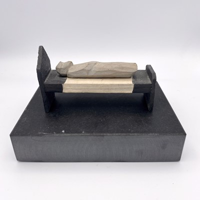 Lot 106 - Bryan ILLSLEY (1937) The Bed Painted wooden...