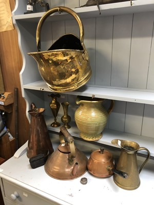 Lot 2 - Copper and brassware, together with a studio...