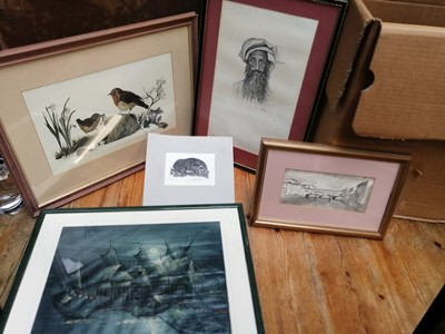 Lot 10 - A quantity of paintings and pictures,...
