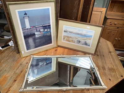 Lot 17 - Two framed signed prints - Couliou, 'Port de...