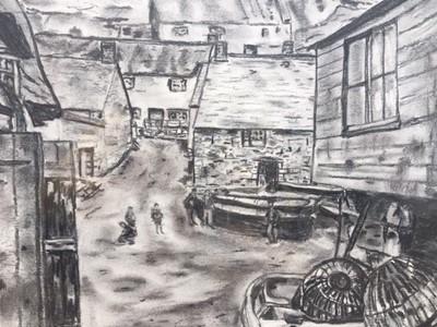 Lot 25 - Nicky JOSE Yer Tiz Original Charcoal Drawing...